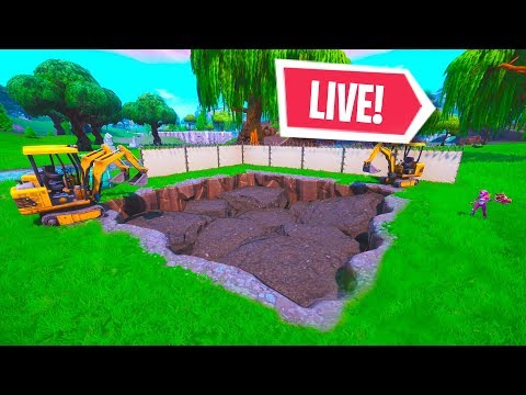 *NEW* LOOT LAKE RUIN CUBE DIG EVENT RIGHT NOW! LIVE EVENT (Fortnite Battle Royale)