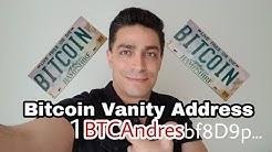 Tu nombre personalizado en Bitcoin, Vanity Address