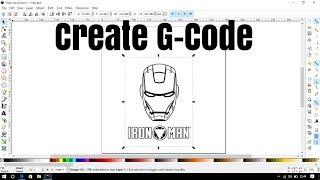 Wie erstellen Sie den G-code mit inkscape software
