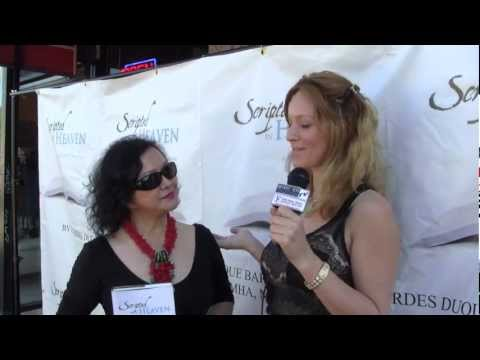 Author Lourdes Duque Baron from Scripted In Heaven Interview by Becca Minas at Scream Famous