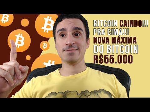 Bitcoin CAINDO!!! PRA CIMA!!! Nova Máxima Histórica R$55 000 🚀🚀