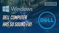 Fix Dell Computer Has No Sound in Windows 10/8/7 -[Tutorial]