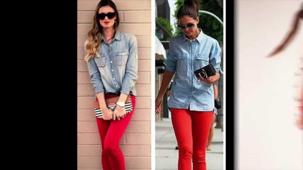 e68c3a5610 ♡ Como Combinar Pantalón Rojo ♡ OUTFITS - YouTube