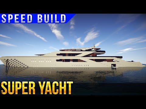 SUPER YACHT SPEED BUILD MINECRAFT