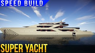 SUPER YACHT SPEED BUILD MINECRAFT