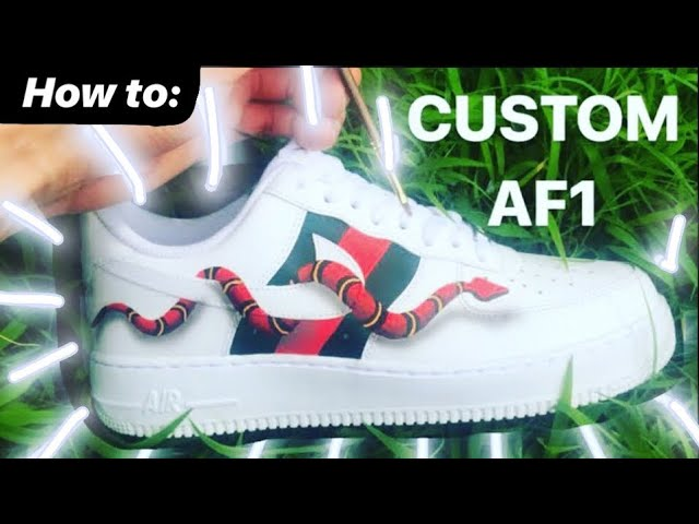 Custom Air Force 1 Gucci Snake Satisfying Youtube