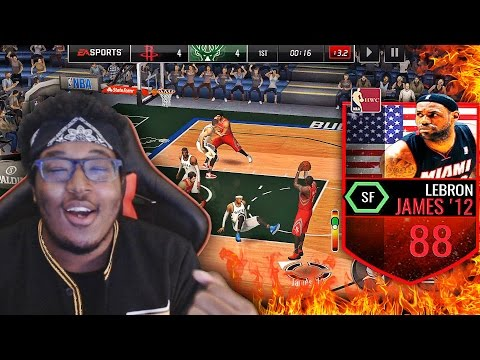 THROWBACK PACK OPENING! 88 LEBRON JAMES BREAKING ANKLES!? NBA Live Mobile Gameplay #1