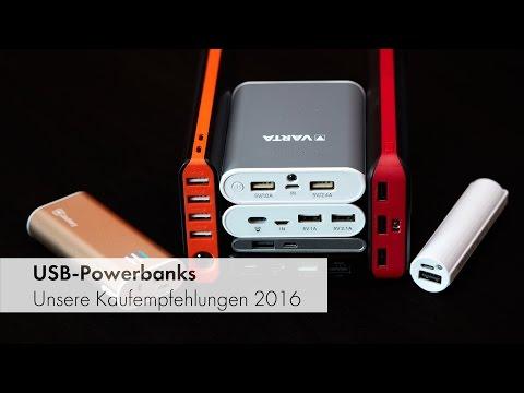 USB-Powerbanks: Unsere Kaufempfehlungen und Testsieger 2016 [Deutsch]