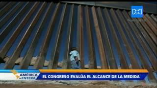 Congreso de Estados Unidos debate la construcción del muro en la frontera con México