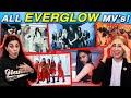 Reacting to ALL EVERGLOW MV's & RANKING Each Song! First, La Di Da, Dun Dun, Bon Bon Chocolat, Adios