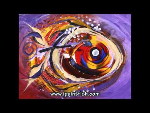 Fish Art & Fish Paintings by J. Vincent Scarpace, #3 (Modern Artwork)