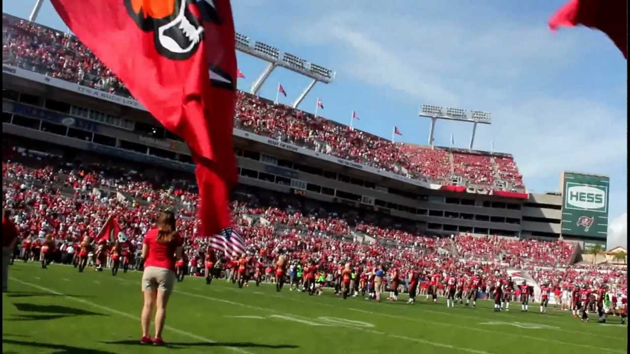 Bucs Pregame Flag Waving Go Tampa Bay Buccaneers Youtube