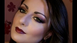 Fall 2012 Makeup Trend - Gold and Burgundy Lips Thumbnail
