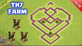 NEW UPDATE 2016 - TownHall7 Farming Base with 3 Air Defenses | Best TH7 Trophy/War/Farming