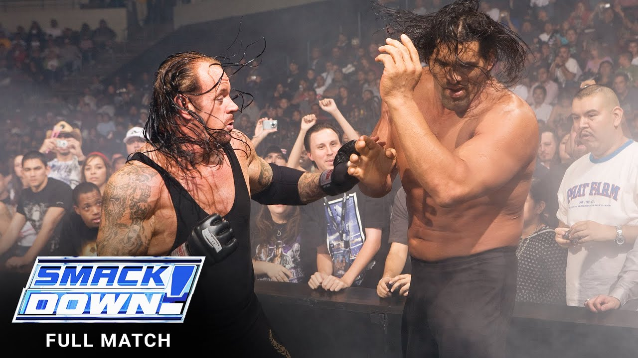 Download FULL MATCH - The Undertaker vs. The Great Khali – No Holds Barred Match: SmackDown, Nov. 9, 2007