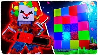 WE MAKE A PORTAL TO THE DIMENSION OF THE MURDER CLOWN! - MINECRAFT DIMENSIONS 4