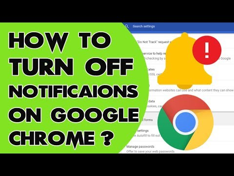 How to turn off or disable all notifications in Google Chrome - Windows 10
