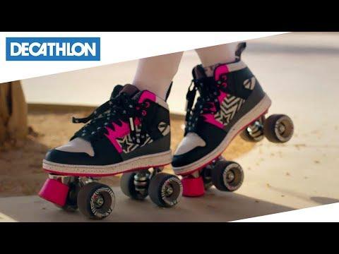 45b79bf36c578d Pattini 4 ruote Quad 5 di Oxelo | Decathlon Italia - YouTube