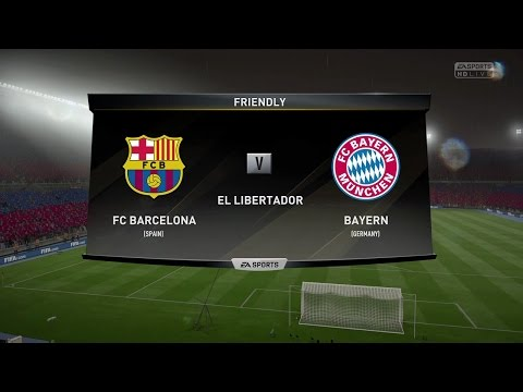 FIFA 17 GAMEPLAY BARCELONA VS BAYERN MUNICH IN 1080P HD 60FPS (PS4/XBOX ONE)