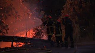 Incendies en Haute-Corse, attisés par des vents violents