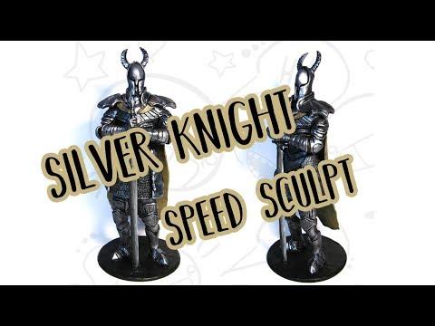 Silver Knight - Dark Souls - Polymer Clay Speed Sculpting