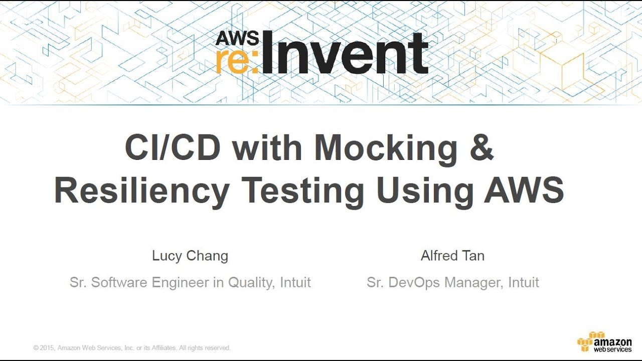AWS re:Invent 2015 | (DEV310) CI/CD of Services with Mocking and Resiliency  Testing