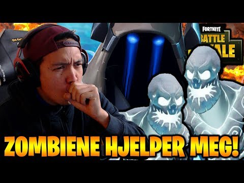 ZOMBIENE HJELPER LLOYD I FORTNITE!😄❄️