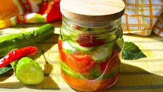 Салат из овощей слоями на зиму