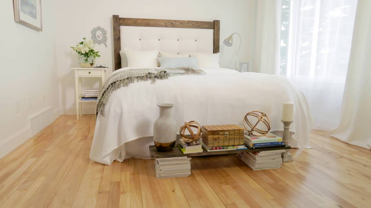 diy t te de lit capitonn e fabricville youtube. Black Bedroom Furniture Sets. Home Design Ideas