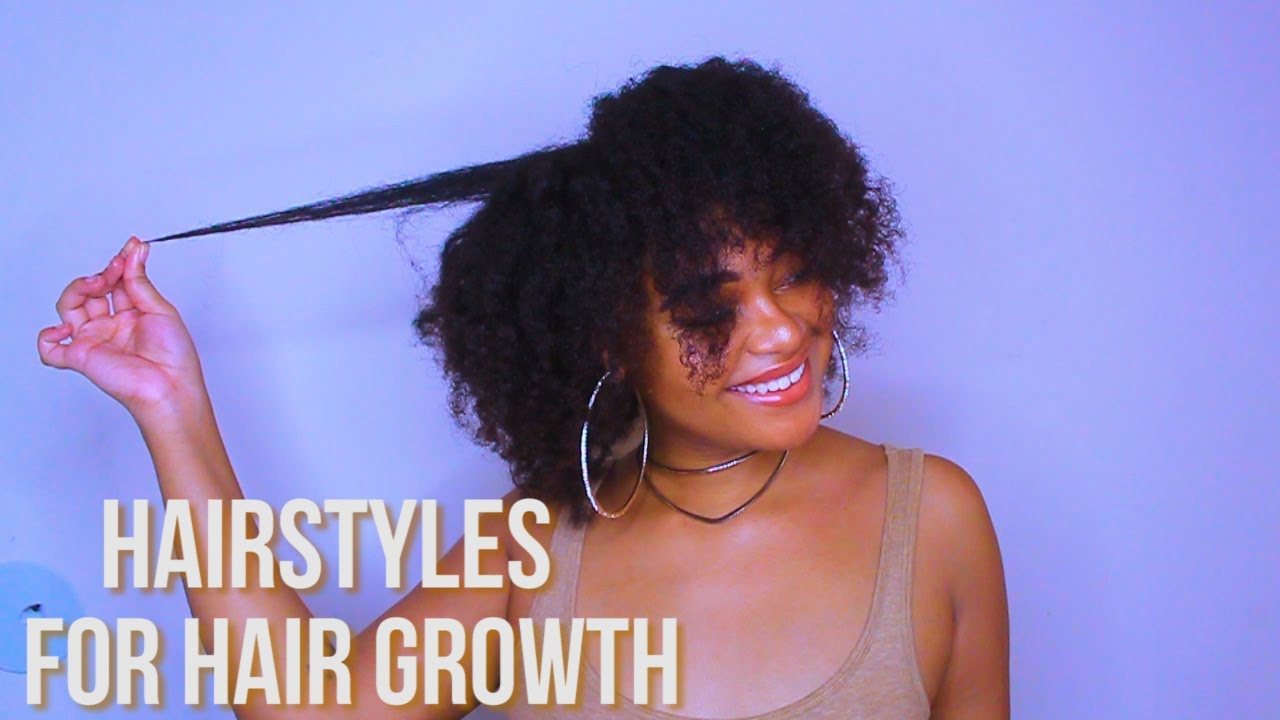 top 4 natural hairstyles to get faster hair growth + length retention | terrey