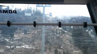 Scary cable car ride in French mountains