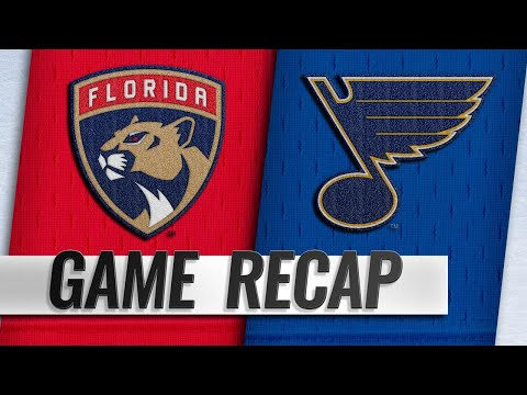 Perron's two goals help Blues top Panthers, 4-3