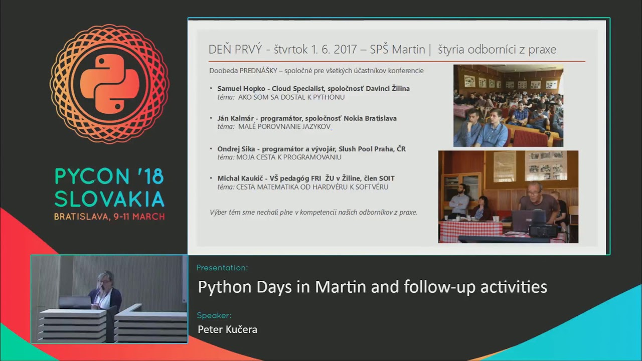 Image from Python Days in Martin and follow-up activities