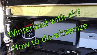 If you were winterized with compressed air this is how you de-winterize