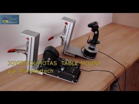 Test Hotas Table Mount De Monstertech Youtube