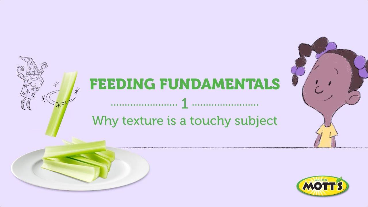 Feeding Fundamentals - Texture - Mott's Teachable Tastes