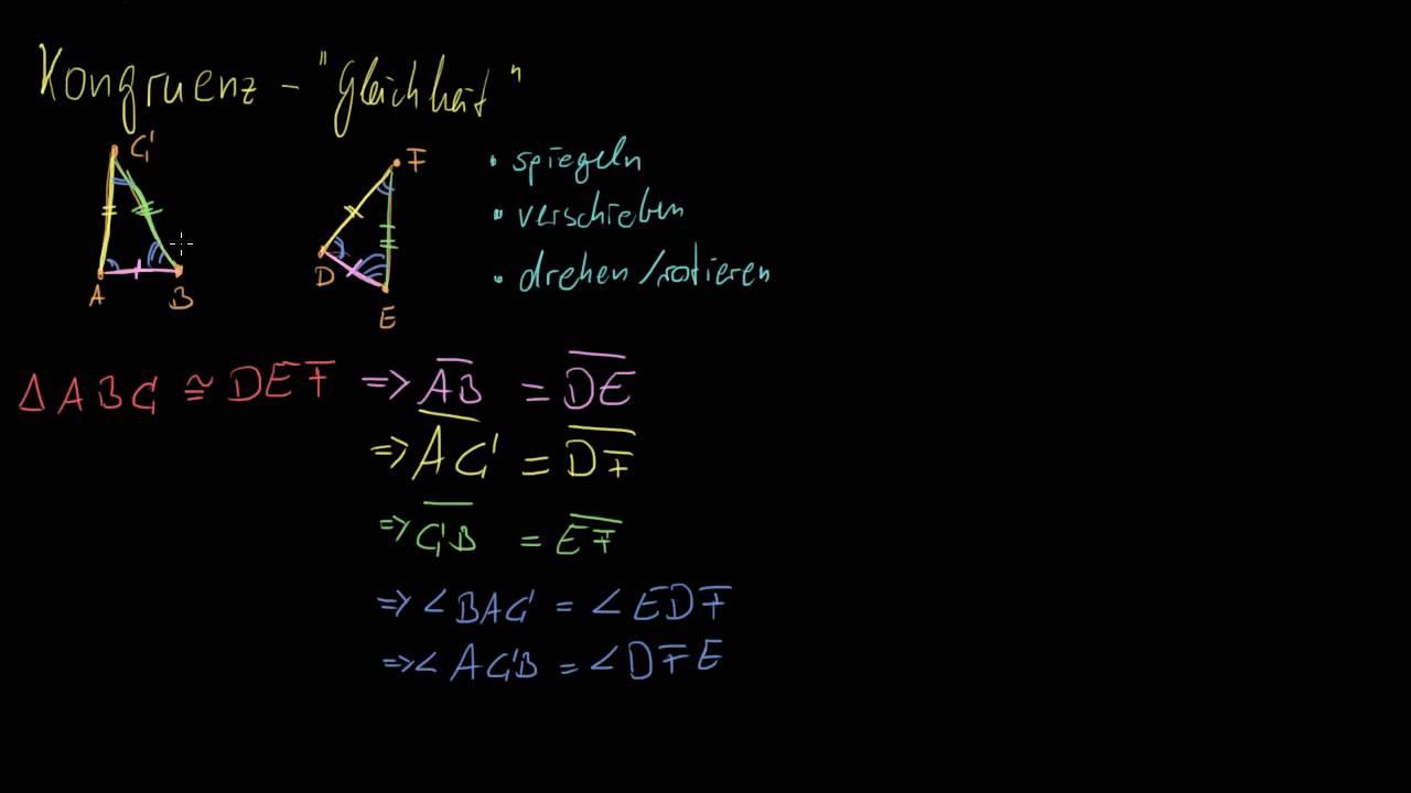 Kongruente Dreiecke und der SSS-Satz - YouTube
