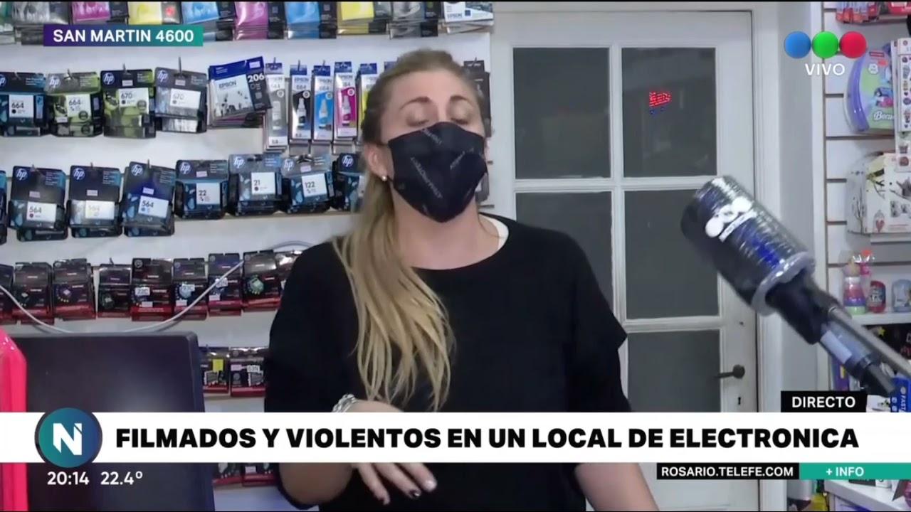 Download Filmados y violentos en un local de electrónica - Telefe Rosario