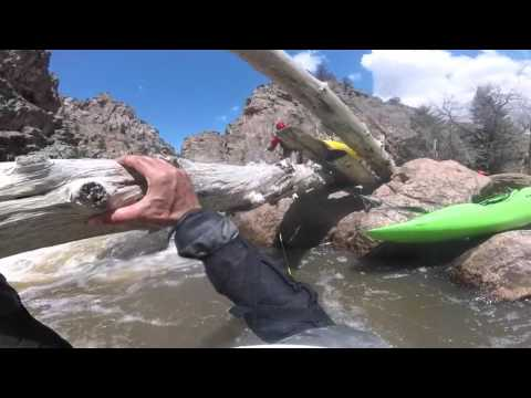Pinned Kayaker Rescue Poudre Narrows