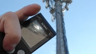 Checking Radiation Levels At Massive Cell Tower
