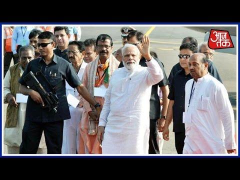 Watch PM Modi's Roadshow In Bhubaneswar