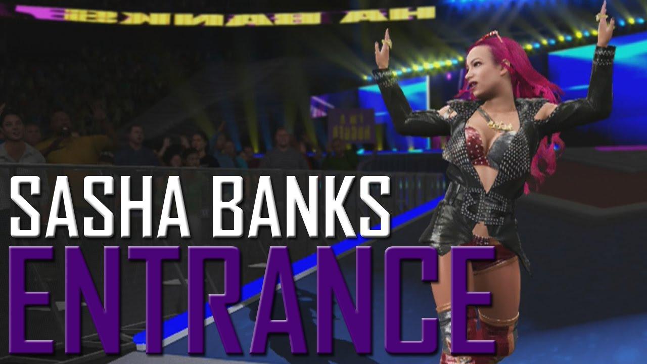 WWE 2K17: Sasha Banks Entrance - YouTube