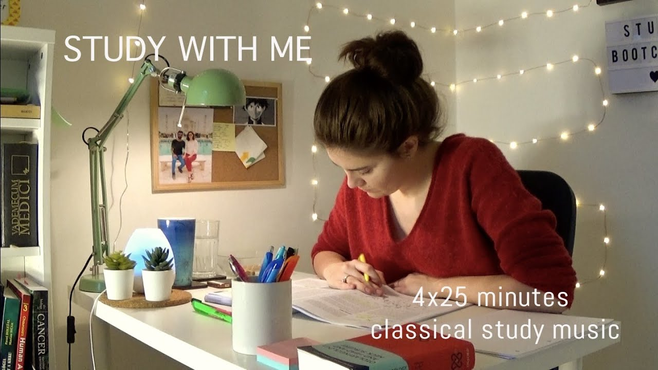 STUDY WITH ME! (2 hours POMODORO technique. classical study music) - YouTube