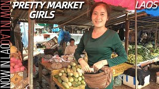 Pretty Hmong Market Girls and Khmu Village Laos   Now in Lao