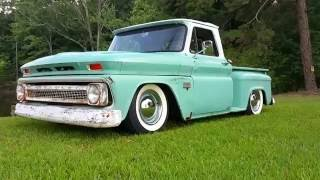 Shotgun Betty 66' Chevy C10 Bagged Air ride!