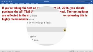 ATI TEAS STUDY MANUAL – SIXTH EDITION
