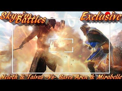 Skyrim Battles - Neloth & Talvas vs Savos Aren & Mirabelle [Legendary Settings]