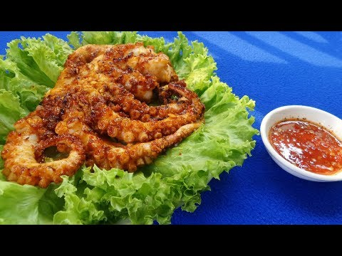 Món Ăn Ngon - BẠCH TUỘC NƯỚNG SA TẾ đơn giản cực ngon