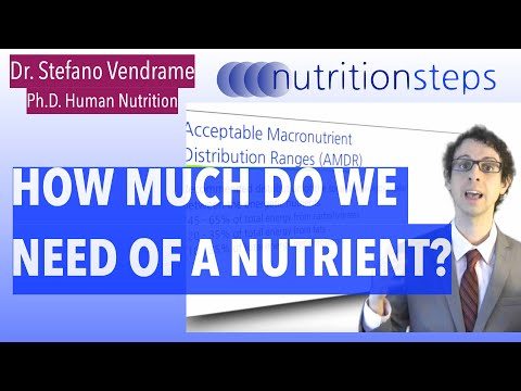 How much do we need of a Nutrient?