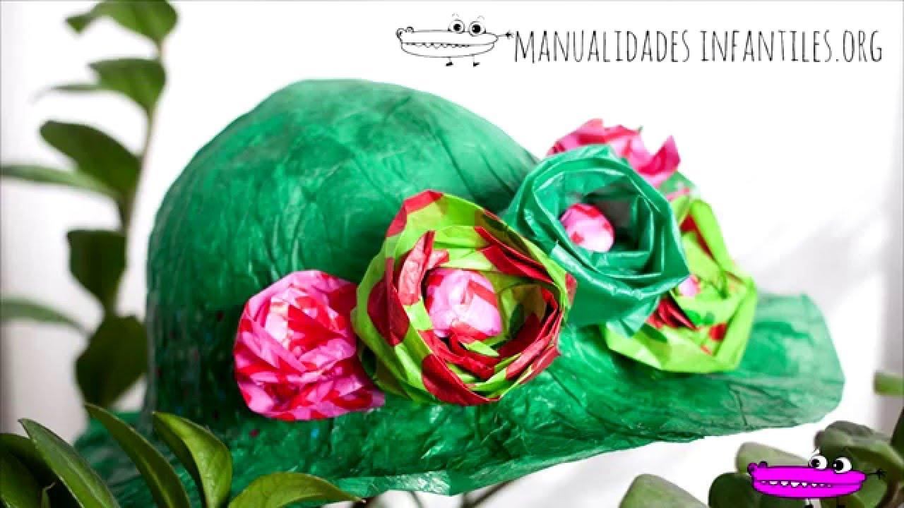 Sombreros de papel - YouTube e14b47ee035